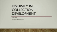 Diversity in Collection Development - Surely We Don't Need This Training. Don't Call Me Shirley!