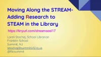 Moving Along the Stream - Adding Research to STEAM in the Library