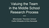 Valuing the Team in the Middle School Research Process