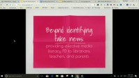 Beyond Identifying Fake News: Providing Effective Media Literacy PD to Librarians, Teachers, and Parents
