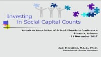 Investing in Social Capital Counts