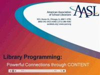 School Library Programming: Powerful Connections through Content
