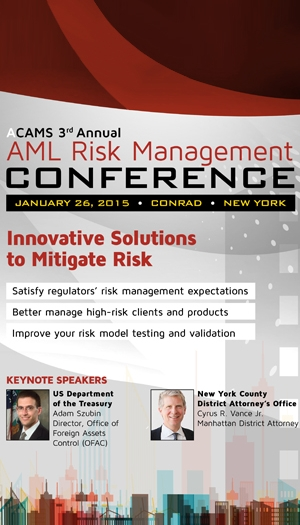 ACAMS 3rd Annual AML Risk Management Conference