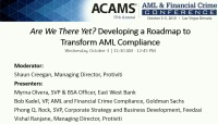 Are We There Yet? Developing a Roadmap to Transform AML Compliance