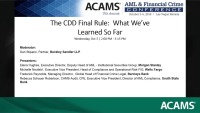 The CDD Final Rule: What We've Learned So Far