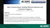 Elder Financial Abuse: Building Effective Detection and Protection Programs
