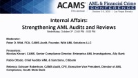 Internal Affairs: Strengthening AML Audits and Reviews