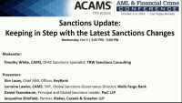 Sanctions Update: Keeping in Step with the Latest Sanctions Changes