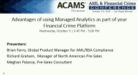 Advantages of Using Managed Analytics as Part of Your Financial Crime Platform