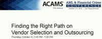 Finding the Right Path on Vendor Selection and Outsourcing