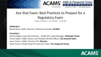 Ace that Exam: Best Practices to Prepare for a Regulatory Exam