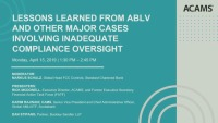 Lessons Learned from ABLV and Other Major Cases Involving Inadequate Compliance Oversight
