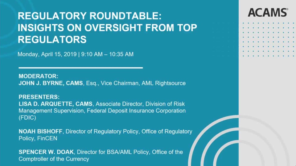 Regulatory Roundtable: Insights on Oversight Directly from