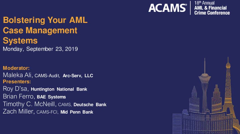 Bolstering Your AML Case Management Systems