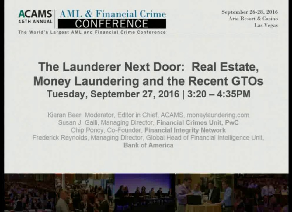 The Launderer Next Door: Real Estate, Money Laundering and