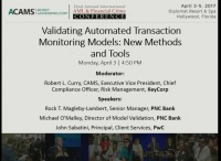 Validating Automated Transaction Monitoring Models: New Methods and Tools
