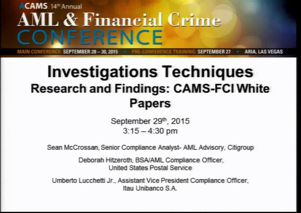 Research and Findings: CAMS-FCI White Papers