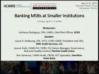 Banking MSBs at Smaller Institutions