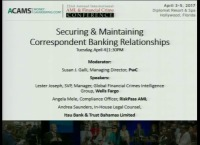 Securing and Maintaining Correspondent Banking Relationships