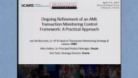 Ongoing Refinement of an AML Transaction Monitoring Control Framework: A Practical Approach - Presented by Oracle