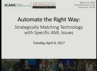 Automate the Right Way: Strategically Matching Technology with Specific AML Issues