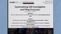 Systematizing SAR Investigative and Filing Processes