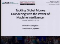 Tackling Global Money Laundering with the Power of Machine Intelligence - Presented by AYASDI
