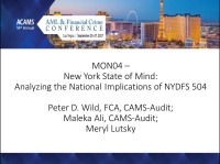New York State of Mind: Analyzing the National Implications of NYDFS 504
