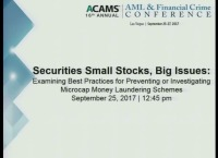 Securities Small Stocks, Big Issues: Examining Best Practices for Preventing or Investigating Microcap Money Laundering Schemes