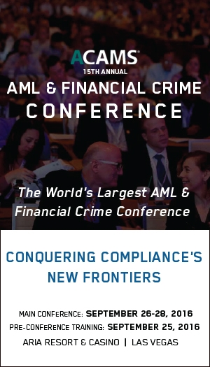 ACAMS 15th Annual AML & Financial Crime Conference - Las Vegas