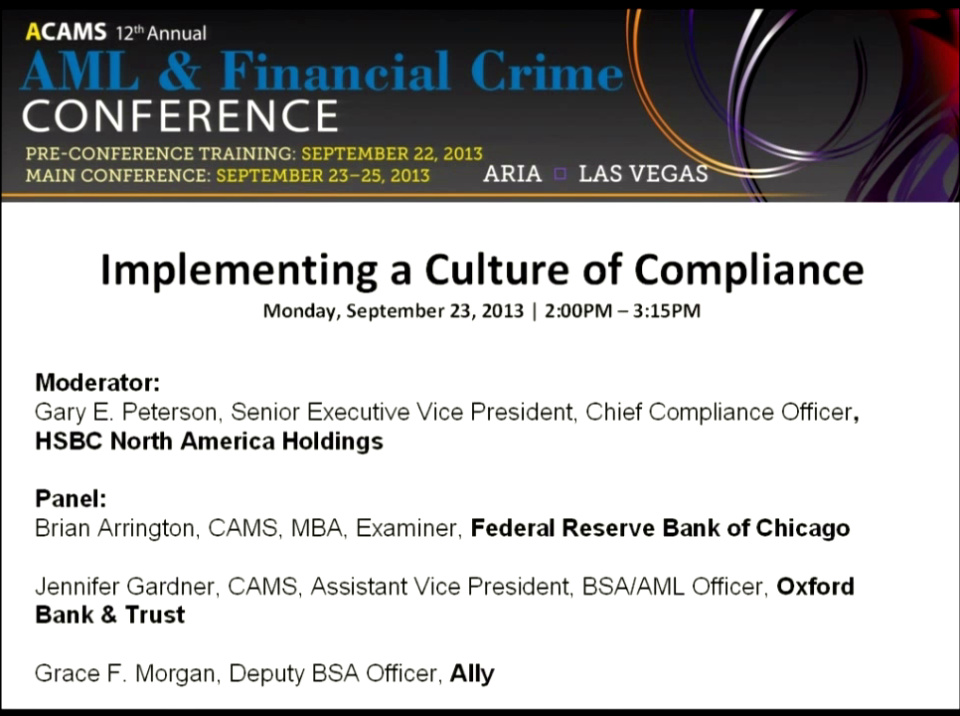 Implementing a Culture of Compliance