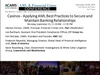 Casinos: Applying AML Best Practices to Secure and Maintain Banking Relationships