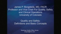 Definition and Basics (Radiology Quality Officer Series)