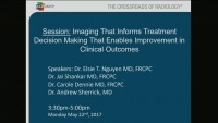 Imaging That Informs Treatment Decision Making That Enables Improvement in Clinical Outcomes