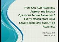 How Can ACR Registries Help Answer the Biggest Questions Facing Radiology