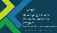 Developing a Clinical Research Education Program and Implementation Issues to Consider