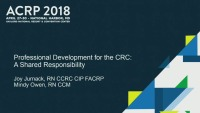 Professional Development for CRCs: A Shared Responsibility