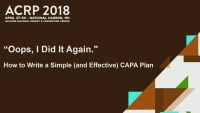 Oops, I Did It Again. How to Write a Simple (and Effective) CAPA Plan
