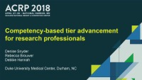 A Framework for Competency-Based Tier Advancement: Lessons Learned