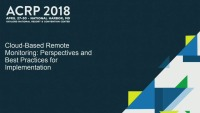 Cloud-Based Remote Monitoring: Perspectives and Best Practices for Implementation
