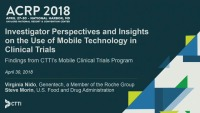 Investigator Perspectives and Insights on the Use of Mobile Tech in Clinical Trials: Findings from CTTI's Mobile Clinical Trials Project