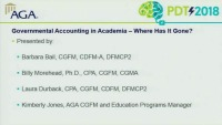S101: Governmental Accounting in Academia - Where Has it Gone? (FOS: HR)