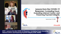 W101- Lessons from the COVID-19 Response: Combating Fraud, Evaluating Internal Control, and Preserving Payment Integrity (FOS: AUDG)