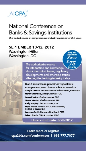 National Conference on Banks & Savings Institutions 2012