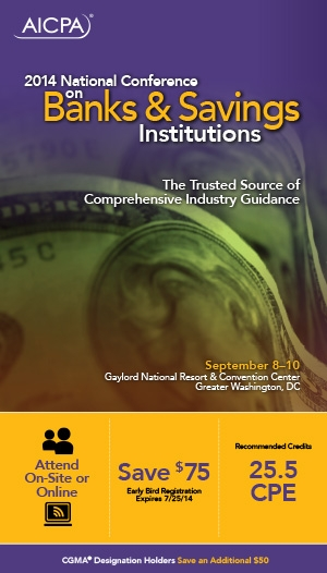 National Conference on Banks & Savings Institutions 2014 - Virtual