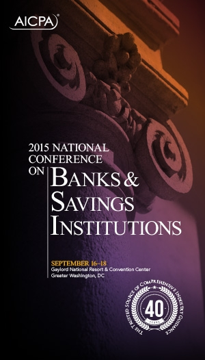 National Conference on Banks & Savings Institutions 2015 - Virtual