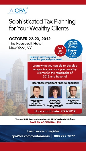 Sophisticated Tax Planning for Your Wealthy Clients 2012