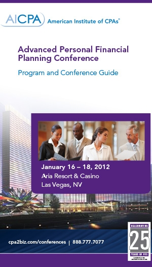 Advanced Personal Financial Planning Conference 2012 - Virtual