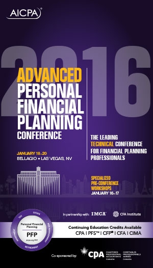 Advanced Personal Financial Planning Conference 2016