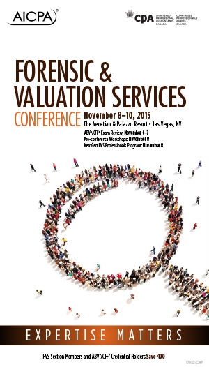 Forensic & Valuation Services Conference 2015 - Virtual